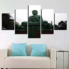 5 Paintings On Canvas Home Decor Modern Canvas
