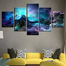 5 Paintings On Canvas Home Decor Print Wall Works