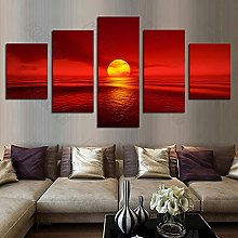 5 Paintings On Canvas Landscape Painting Mural