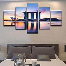 5 Paintings On Canvas Living Room Decoration Wall