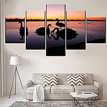 5 Paintings On Canvas Modern Canvas Home