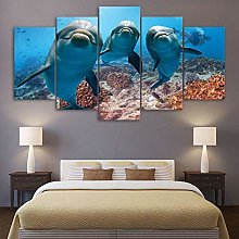5 Paintings On Canvas Modern Canvas Print Home