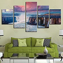 5 Paintings On Canvas Modern Landscape Style Wall