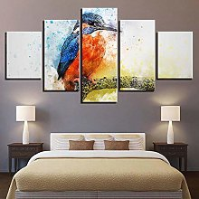 5 Paintings On Canvas Modern Print Decoration