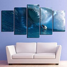 5 Paintings On Canvas Modern Wall Hanging Poster