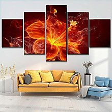 5 Paintings On Canvas Modern Wall Hanging Posters