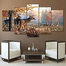 5 Paintings On Canvas Modern Wall Mounted Canvas