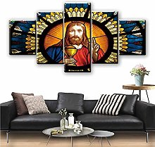5 Paintings On Canvas Painting Print Poster Wall