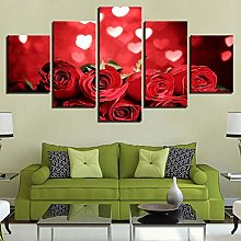 5 Paintings On Canvas Panel Wall Art Poster Print