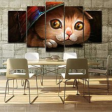 5 Paintings On Canvas Photo Wall Art Decoration