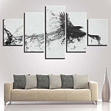 5 Paintings On Canvas Print Animal Canvas Painting