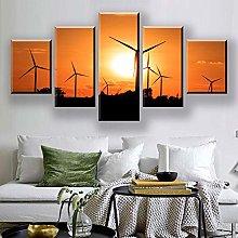 5 Paintings On Canvas Print Art Canvas Landscape
