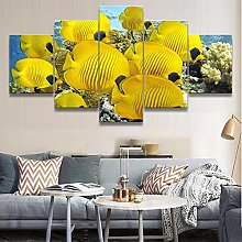 5 Paintings On Canvas Print Photo Wall Modern