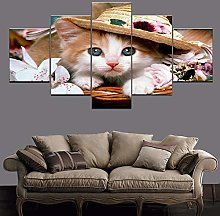 5 Paintings On Canvas Print Printed Canvas