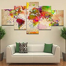 5 Paintings On Canvas Print Wall Canvas With