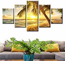 5 Paintings On Canvas Retro Modern Wall Paint