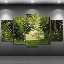 5 Paintings On Canvas Small Canvas Canvas Print