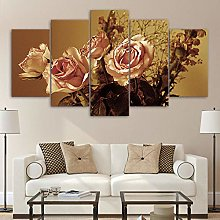 5 Paintings On Canvas Wall Canvas Print On Poster