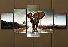 5 Paintings On Canvas Wall Decoration Picture Of