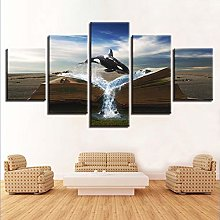 5 Paintings On Canvas Wall Hanging Mural Canvas