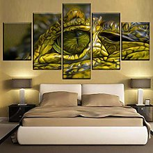 5 Paintings On Canvas Wall Paint Canvas Art Deco