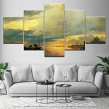 5 Paintings On Canvas Wall Painting Beautiful Sea