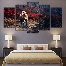 5 Paintings On Canvas Wall Poster Home Decoration