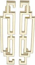 5 Pairs Gold Dresser Drawer Handle Kitchen Cabinet