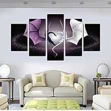 5 Panel Wall Art Dragon Love Paintings Paintings