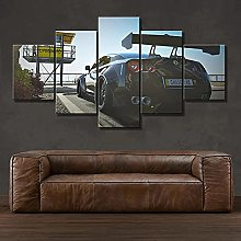 5 Panel Wall Art Sports Car Paintings On Canvas