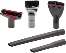 5-Part Car Cleaning Nozzle Set compatible with