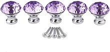 5 Pcs Crystal Diamond Cupboard/Cabinet