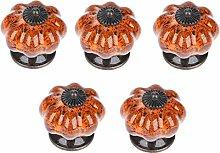 5 Pcs Pumpkin Drawer Knobs Pull Handles Made of