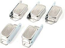 5 Pcs Silver Tone Metal Cupboard Door Magnetic