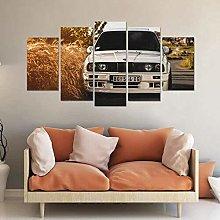 5 Piece 5 Panel Wall Art Photo On Canvas Prints