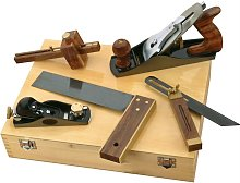 5 Piece Carpenters Woodworking Tool Kit Planes Try
