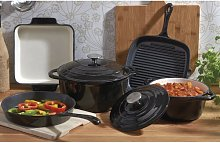 5 Piece Cast Iron Cookware Set Cooks Professional