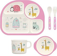 5-piece children's tableware made of