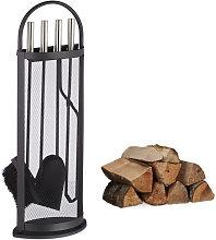 5-Piece Fireplace Companion Set Steel Utility