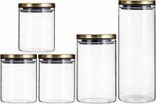 5 Piece Kitchen Storage Canister Set -