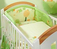 5 Piece Pc BABY BEDDING SET COT BED QUILT/DUVET