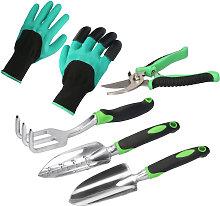5 Pieces Garden Tool Set Heavyt Duty Gardening
