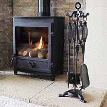 5 Pieces Log Burner Set Fireside Companion Fire