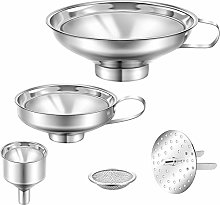 5 Pieces Stainless Steel Funnels Set Canning