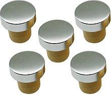 5 Pieces T-Shape Cork Bung Stopper Plugs Sealing