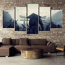 5 Retro Photo Painting Oil Painting Canvas Wall