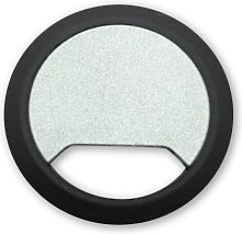 5 Silver/Black Premium Cable Tidies - 65mm - Desk