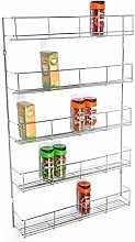5 Tier Chrome Finish 420mm Wide Spice herb Rack
