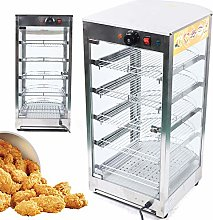 5 Tier Food Heated Display Cabinet Large Capacity