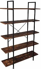 5-Tier Industrial Bookcase and Book Shelves,